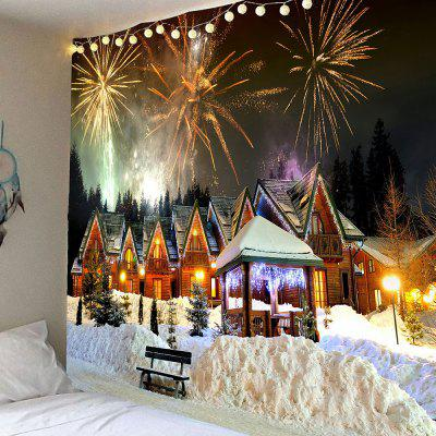 Christmas Fireworks Party Printed Wall Decor Tapestry