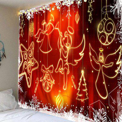 Christmas Angel Printed Waterproof Wall Hanging Tapestry