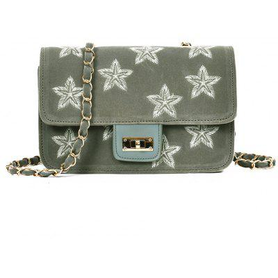Buy GRAY Embroidery Star Chain Crossbody Bag for $20.86 in GearBest store
