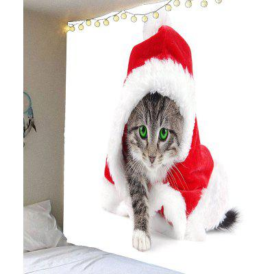Wall Art Hanging Christmas Cat Waterproof Tapestry