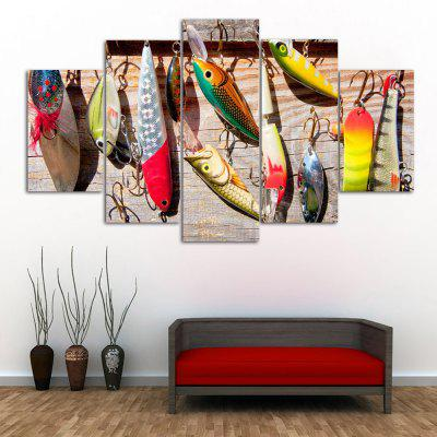 Fishing Bait Print Unframed Canvas Split Paintings