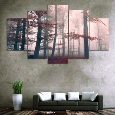 Buy COLORMIX Fog Maple Forest Print Unframed Canvas Split Paintings for $18.20 in GearBest store
