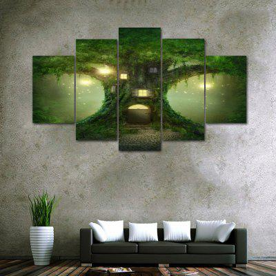 Tree House Print Unframed Canvas Split Paintings