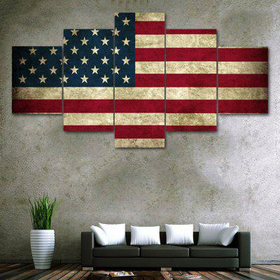 Patriotism US Flag Print Unframed Canvas Split Paintings