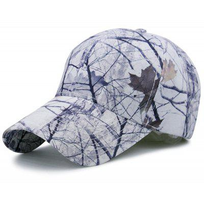 Outdoor Leaves Shrub Printed Adjustable Baseball Hat