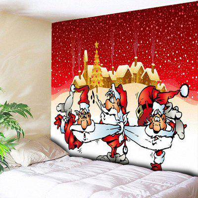 Santa Claus Print Wall Art Christmas Tapestry
