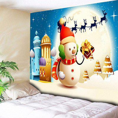 Christmas Snowman Wall Hanging Tapestry
