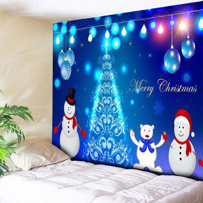 Wall Decor Christmas Snowman Tree Ball Tapestry
