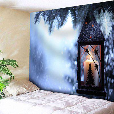 Christmas Candle Print Wall Decor Tapestry