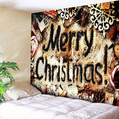Merry Christmas Graphic Wall Tapestry