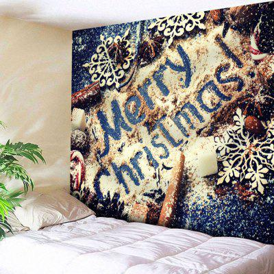 Merry Christmas Graphic Wall Hanging Tapestry