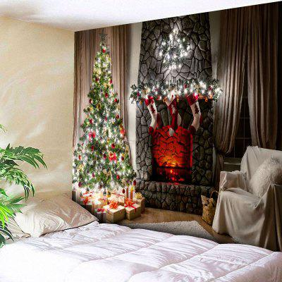 Wall Decor Christmas Tree Fireplace Tapestry