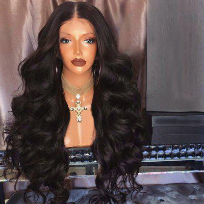 Long Middle Part Fluffy Loose Wave Synthetic Lace Front Wig