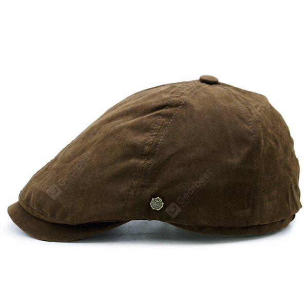Plain Cabbie Hat with Small Alloy Label