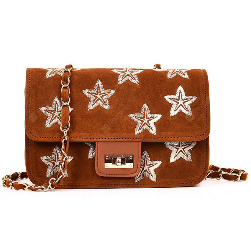 Embroidery Star Chain Crossbody Bag