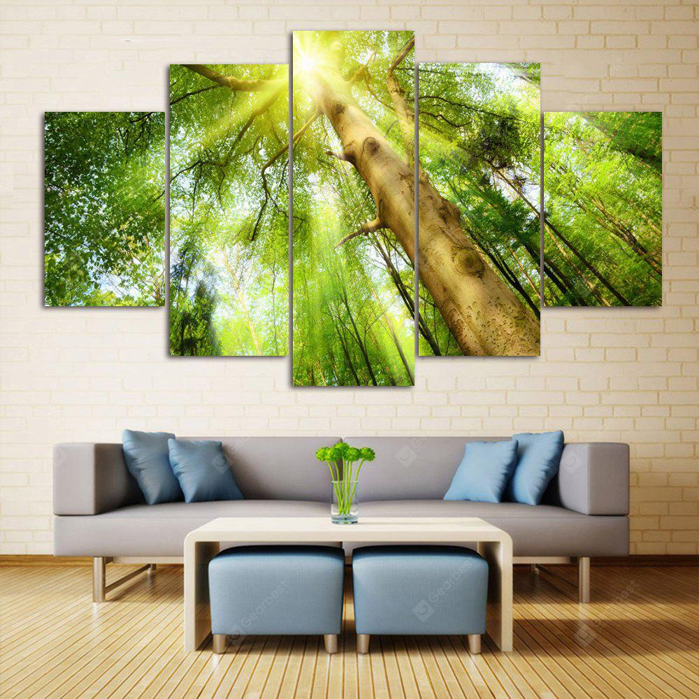 Sunshine Tree Print Split Canvas Wall Art Paintings