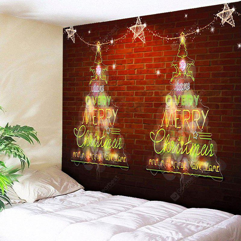 Christmas Tree Brick Wall Decor Tapestry