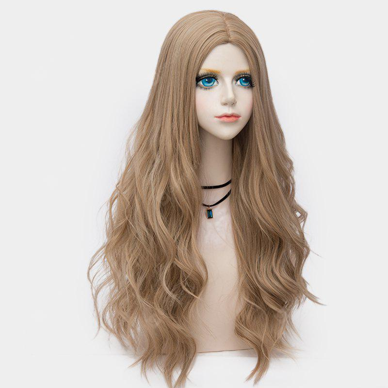 Long Middle Part Layered Wavy Synthetic Party Wig