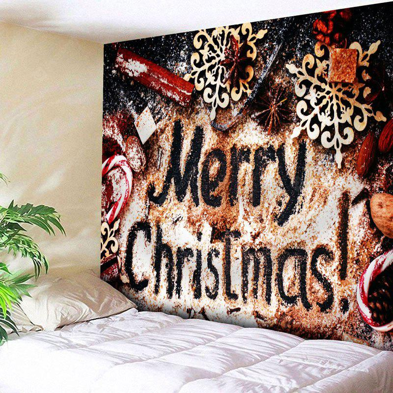 Merry Christmas Printed Wall Tapestry