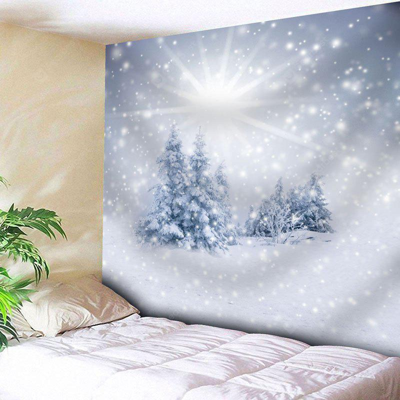 Christmas Snow Tree Wall Hanging Tapestry
