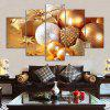 Christmas Gifts Baubles Print Unframed Canvas Split Paintings - GOLDEN