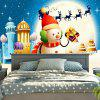 Christmas Snowman Wall Hanging Tapestry - BLUE