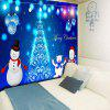 Wall Decor Christmas Snowman Tree Ball Tapestry - BLUE