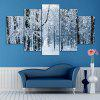 Snow Forest Print Unframed Canvas Split Paintings - GRAY
