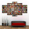 Bookshelf Print Split Canvas Wall Art Paintings - COLORMIX