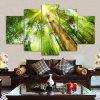 Sunshine Tree Print Split Canvas Wall Art Paintings - GREEN