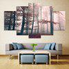 Fog Maple Forest Print Unframed Canvas Split Paintings - COLORMIX