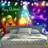 Wall Decor Christmas Graphic Tapestry - COLORFUL
