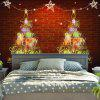 Christmas Tree Brick Wall Decor Tapestry - BRICK-RED