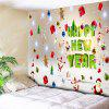 Santa Claus Letter Print Wall Tapestry - COLORFUL