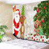 Santa Claus Christmas Tree Reindeer Wall Tapestry - COLORMIX