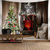 Wall Decor Christmas Tree Fireplace Tapestry - COLORMIX