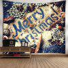 Merry Christmas Graphic Wall Hanging Tapestry - COLORMIX