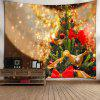 Wall Art Christmas Tree Print Tapestry - GOLDEN