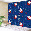 Santa Claus and Snows Pattern Waterproof Wall Hanging Tapestry - COLORFUL