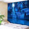 Christmas Graphic Bedroom Wall Tapestry - BLUE