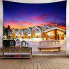 Christmas Snow Night Print Wall Tapestry - VIOLET BLUE
