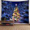 Hanging Waterproof Snow Night Christmas Tree Tapestry - COLORFUL