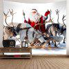 Snowfield Christmas Elks Patterned Wall Art Tapestry - COLORFUL
