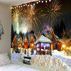 Christmas Fireworks Party Printed Wall Decor Tapestry - COLORFUL