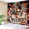 Merry Christmas Printed Wall Tapestry - COLORMIX