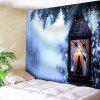 Christmas Candle Print Wall Decor Tapestry - CLOUDY