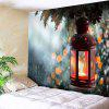 Wall Decor Christmas Candle Print Tapestry - COLORMIX