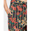 Stripes Floral Bowknot Straight Pants - FLORAL
