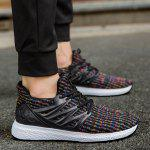 Buy Striped Breathable Lace Casual Shoes 40 COLORFUL
