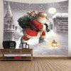 Santa Claus Walking In the Snow Pattern Tapestry - COLORFUL